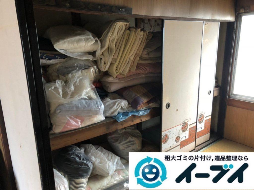 2019年6月2日大阪府大阪市中央区でお部屋や押し入れの不用品回収作業。写真2