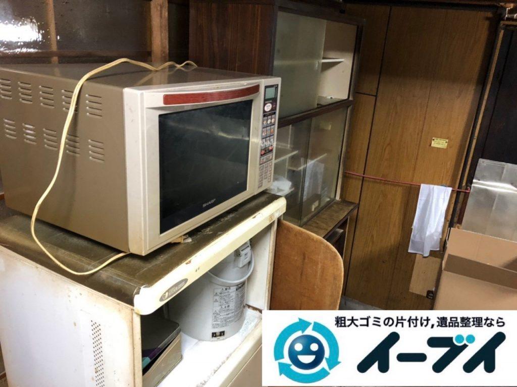 2019年6月26日大阪府大阪市都島区で食器棚の大型家具やお庭の不用品回収。写真4