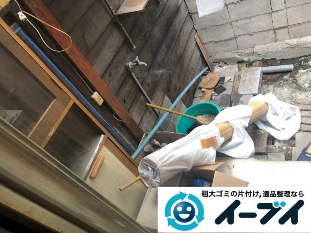 2019年6月26日大阪府大阪市都島区で食器棚の大型家具やお庭の不用品回収。写真2