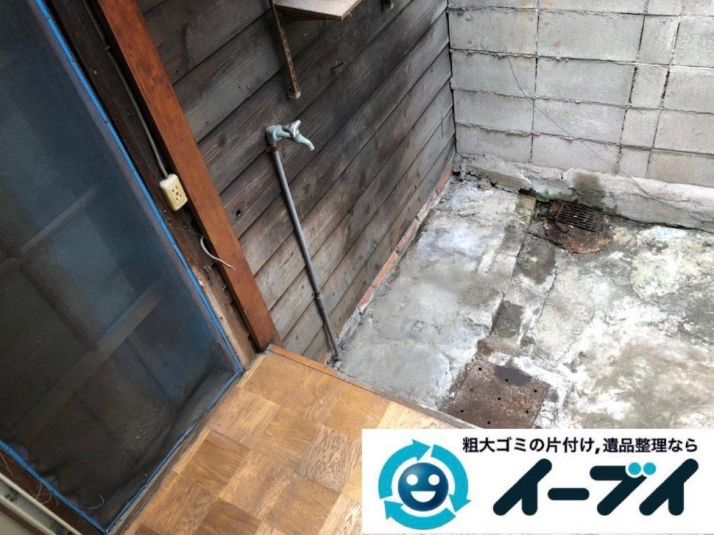 2019年6月26日大阪府大阪市都島区で食器棚の大型家具やお庭の不用品回収。写真1