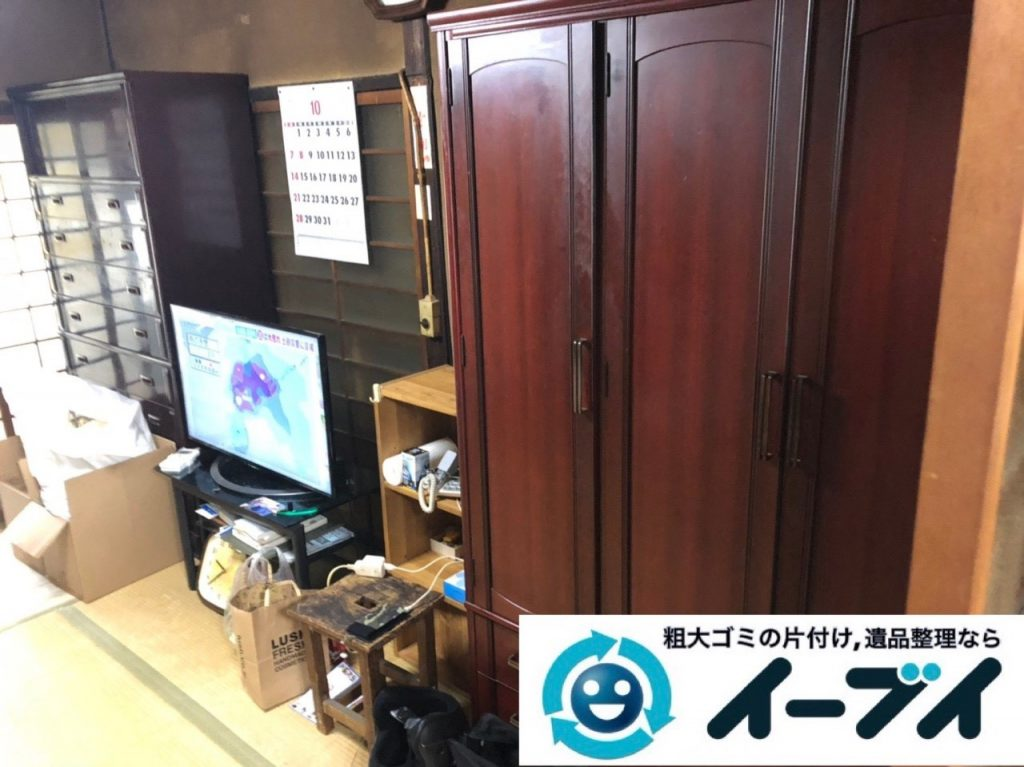 2019年6月10日大阪府大阪市城東区で婚礼家具や和箪笥の大型家具処分のご依頼。写真4