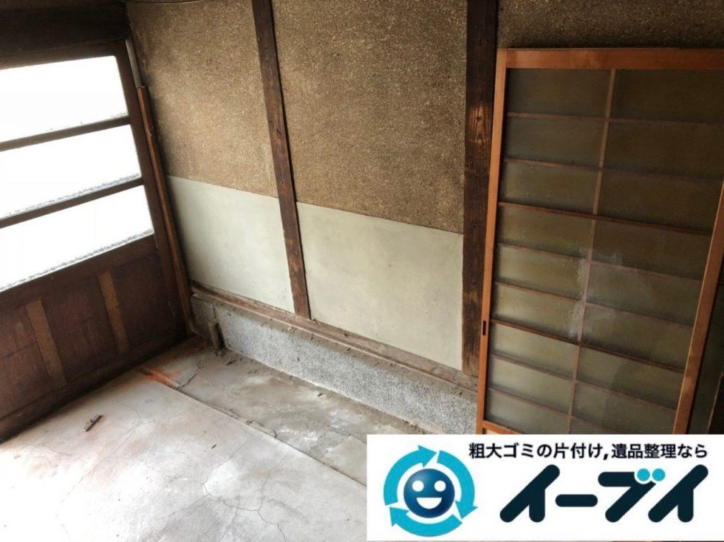 2019年6月24日大阪府大阪市城東区で玄関の不用品回収。写真2