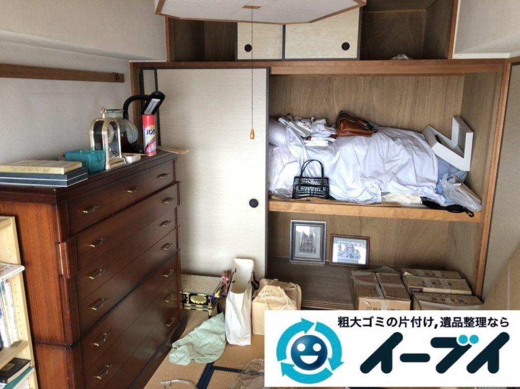 2019年6月13日大阪府大阪市生野区で箪笥の大型家具、室外機や換気扇の家電処分。写真3