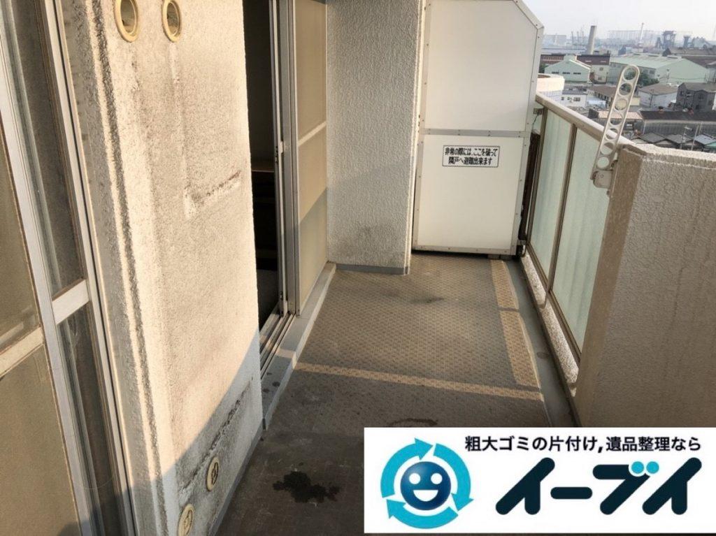 2019年6月13日大阪府大阪市生野区で箪笥の大型家具、室外機や換気扇の家電処分。写真2