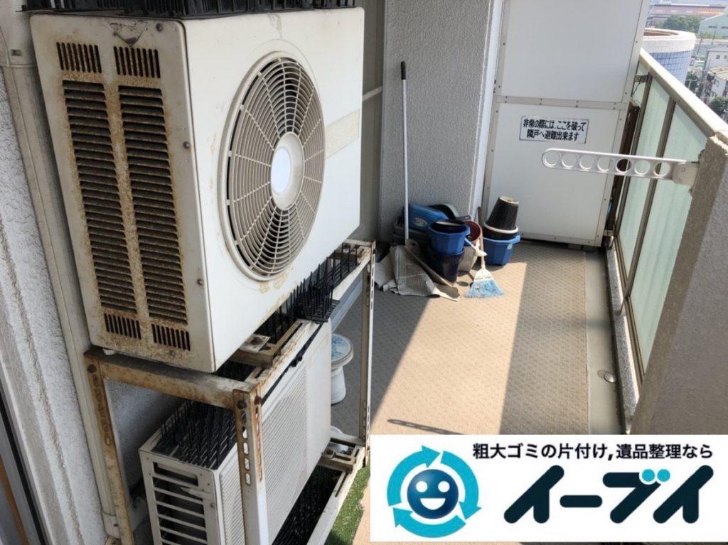 2019年6月13日大阪府大阪市生野区で箪笥の大型家具、室外機や換気扇の家電処分。写真1