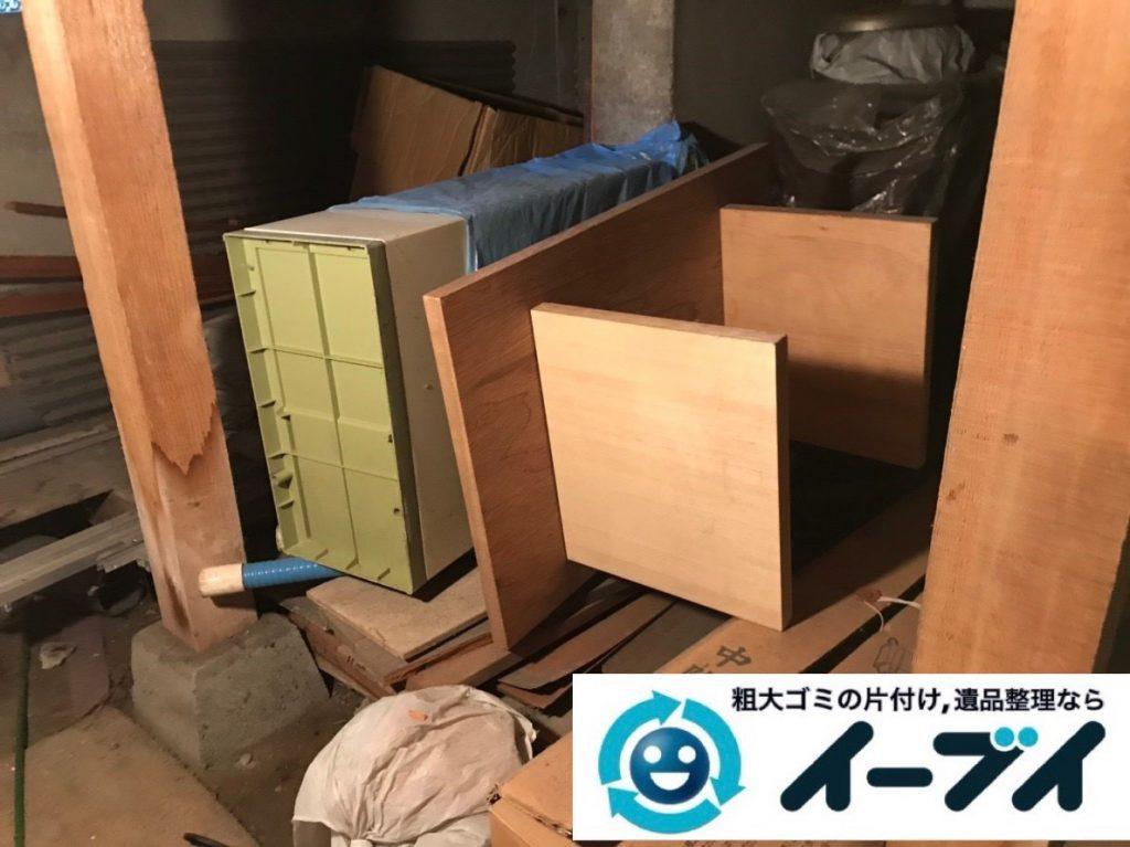 2019年6月27日大阪府大阪市阿倍野区お家の地下に置いている不用品回収。写真3