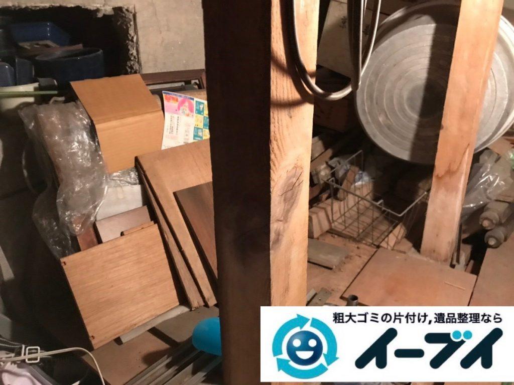 2019年6月27日大阪府大阪市阿倍野区お家の地下に置いている不用品回収。写真1