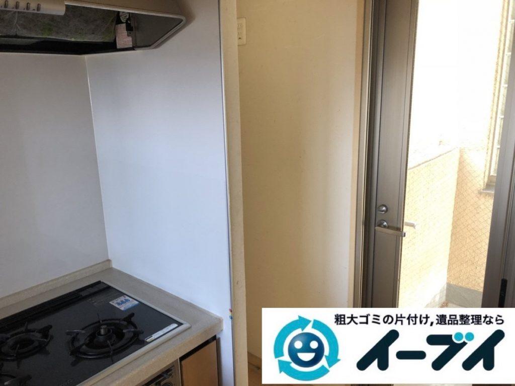 2019年6月6日大阪府高槻市で退去に伴い食器棚や冷蔵庫の大型粗大ゴミ処分。写真4