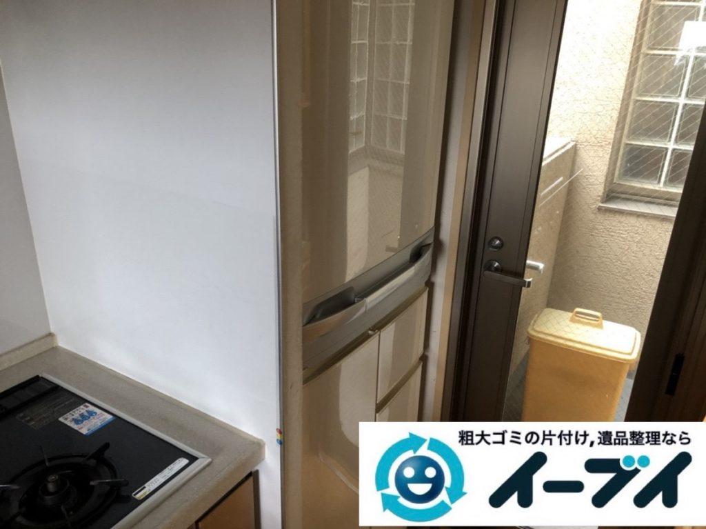 2019年6月6日大阪府高槻市で退去に伴い食器棚や冷蔵庫の大型粗大ゴミ処分。写真3