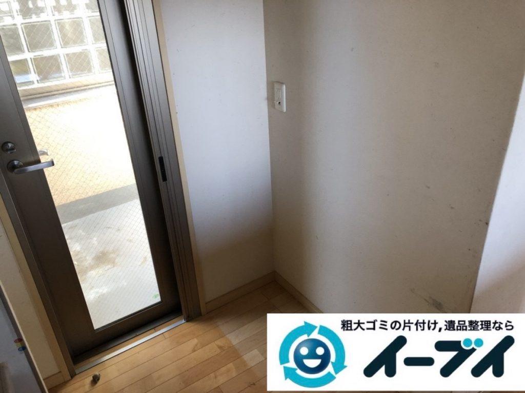 2019年6月6日大阪府高槻市で退去に伴い食器棚や冷蔵庫の大型粗大ゴミ処分。写真2
