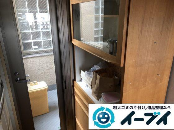 2019年6月6日大阪府高槻市で退去に伴い食器棚や冷蔵庫の大型粗大ゴミ処分。写真1