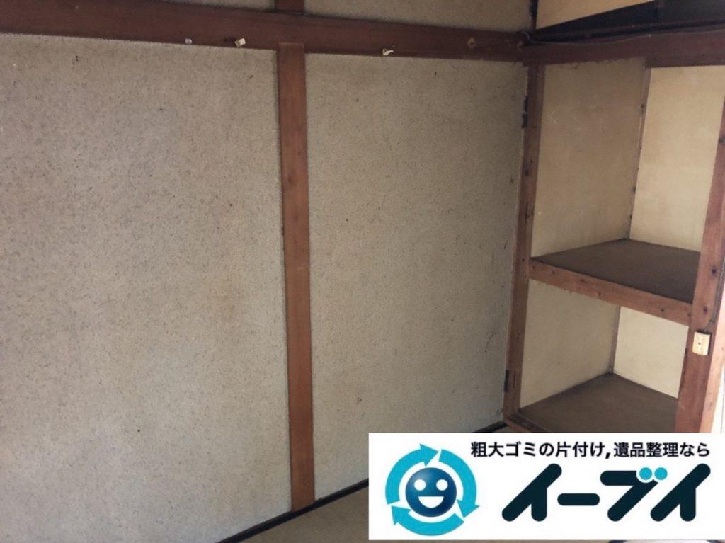 2019年5月31日大阪府大阪市此花区でマンション一室のゴミ屋敷化した汚部屋の片付け作業。写真2