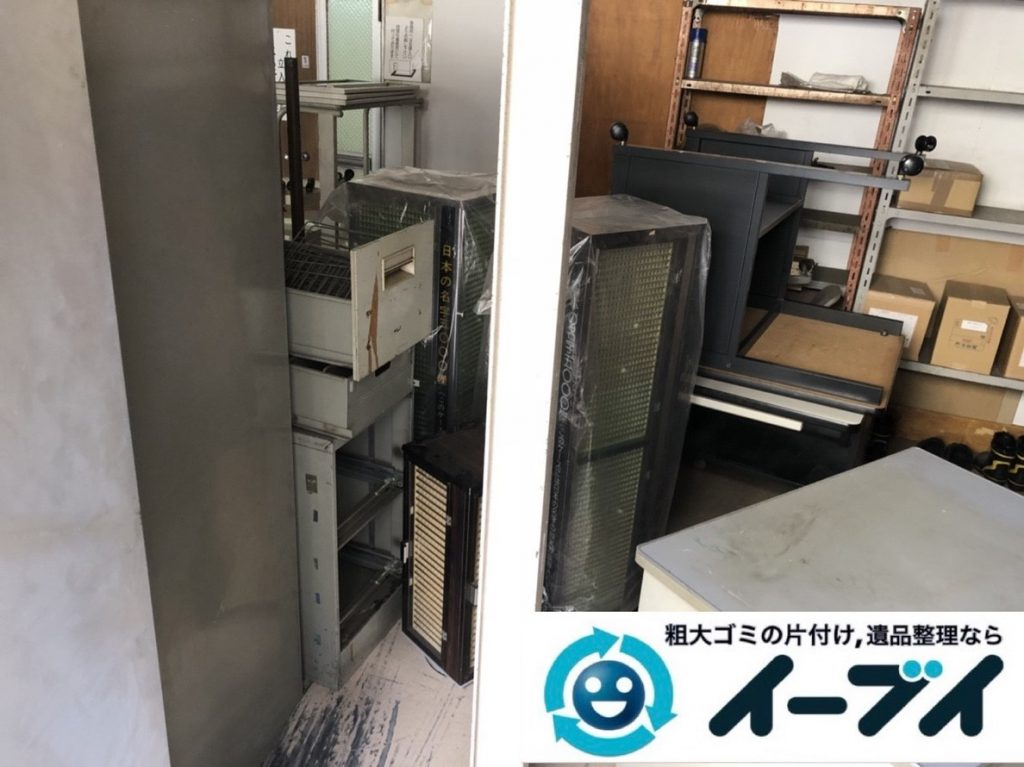 2019年6月14日大阪府大阪市阿倍野区で事務所の不要になった不用品回収。写真3
