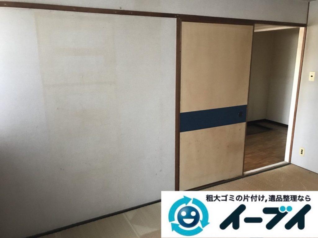 2019年6月3日大阪府東大阪市でお家の残置物の不用品回収。写真4
