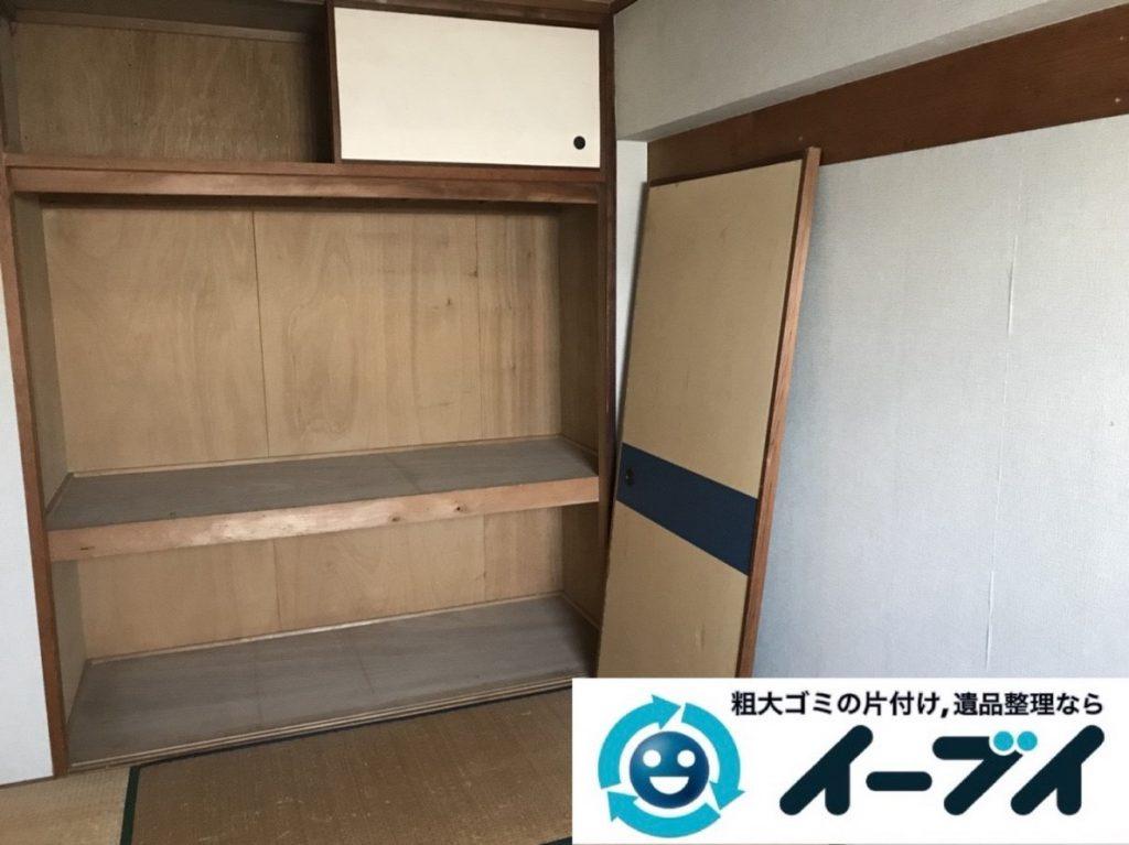 2019年6月3日大阪府東大阪市でお家の残置物の不用品回収。写真2