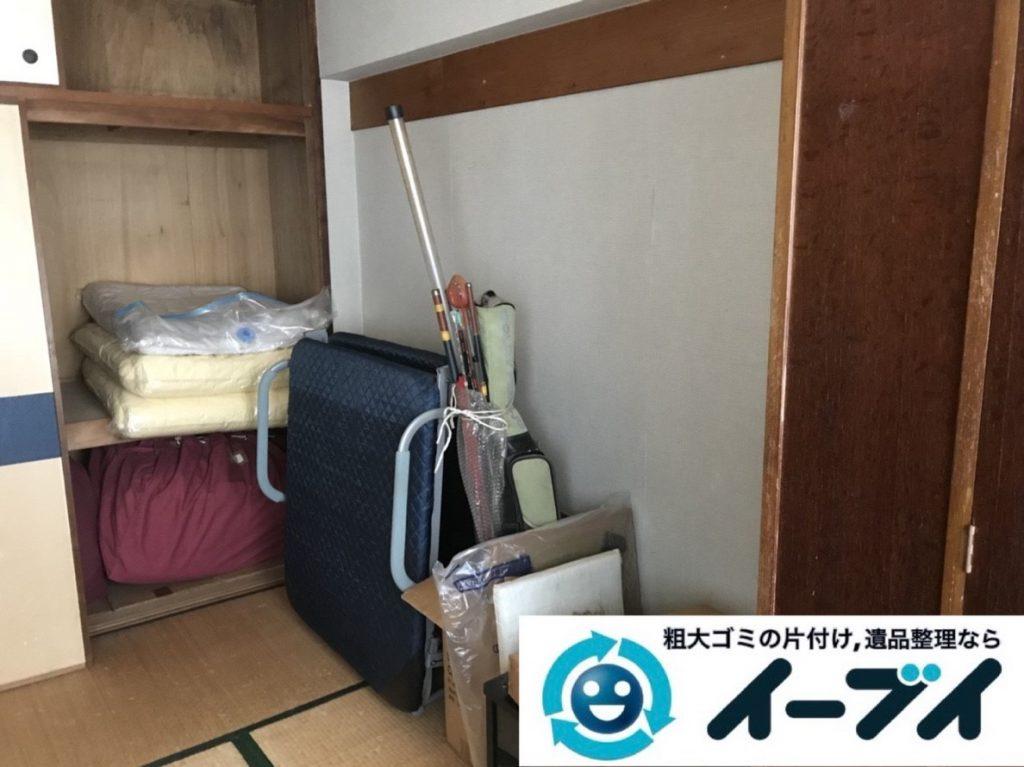 2019年6月3日大阪府東大阪市でお家の残置物の不用品回収。写真1月
