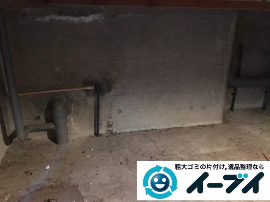 2019年7月4日大阪府大阪市東住吉区でお家の地下倉庫の不用品回収。写真4