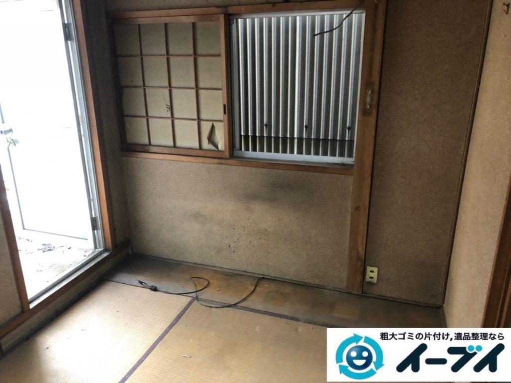 大阪府八尾市で退去に伴いお家の家財道具を全処分。30日