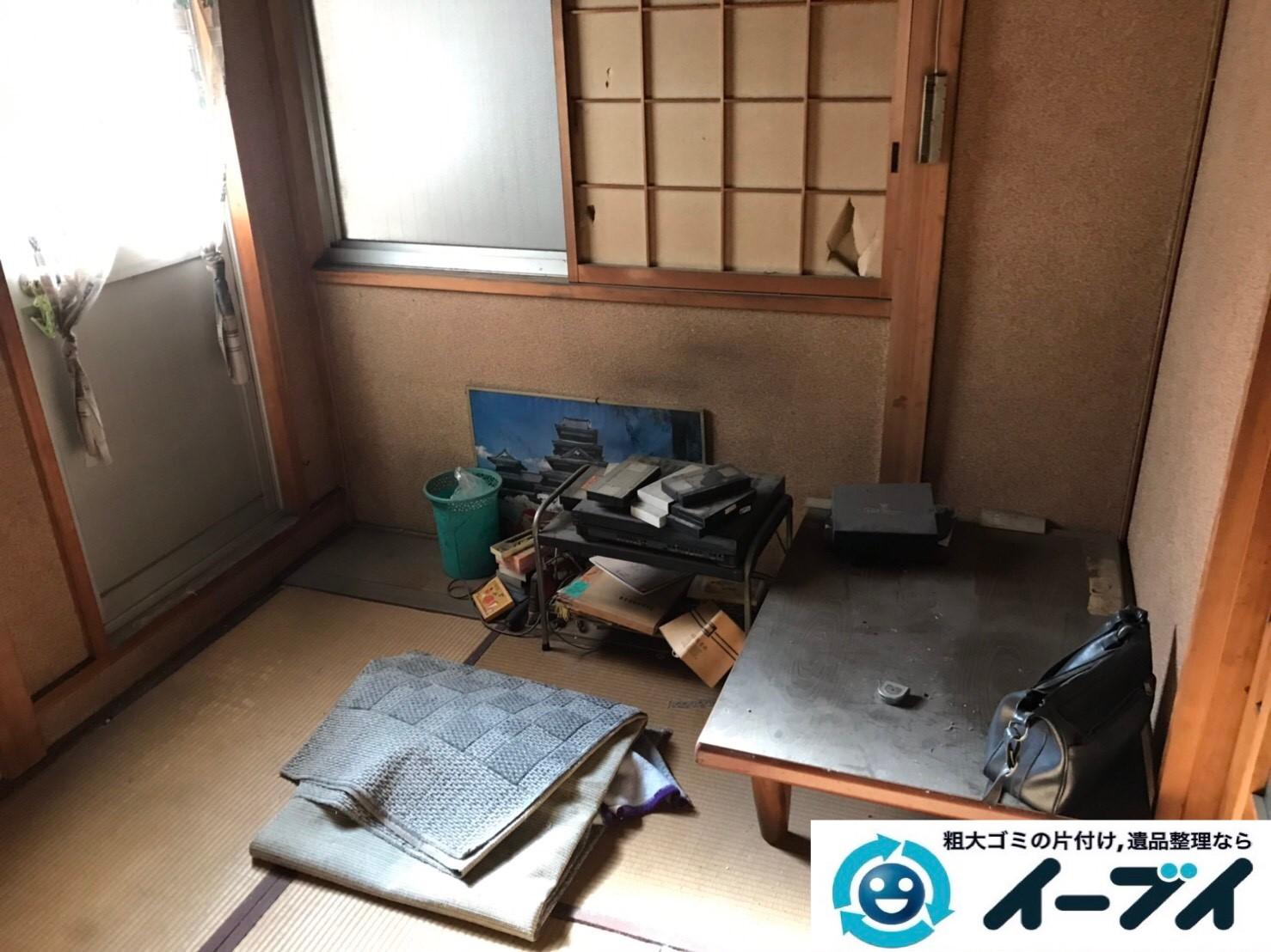 大阪府八尾市で退去に伴いお家の家財道具を全処分。2