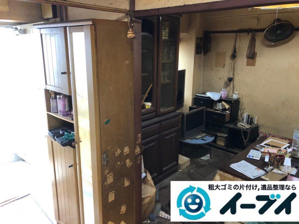 2019年6月28日大阪府吹田市で食器棚の大型家具やテレビの家電処分の不用品回収。写真4