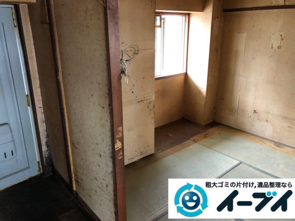 2019年6月28日大阪府吹田市で食器棚の大型家具やテレビの家電処分の不用品回収。写真3