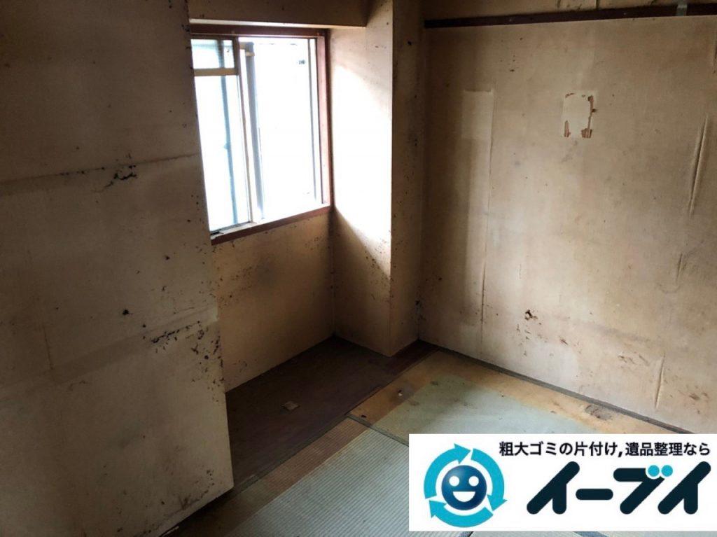 2019年6月28日大阪府吹田市で食器棚の大型家具やテレビの家電処分の不用品回収。写真1