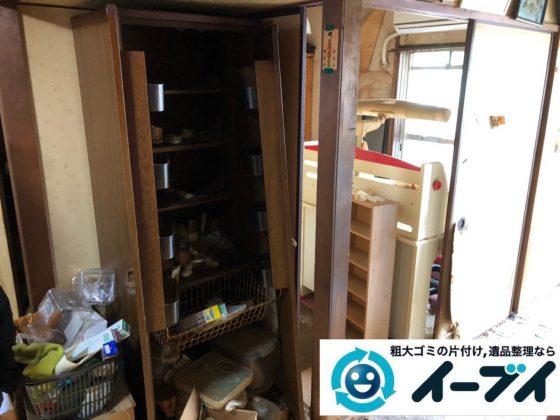 2019年7月2日大阪府高槻市で引越しに伴い食器棚やベッドの不用品回収。写真4