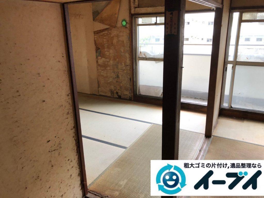 2019年7月2日大阪府高槻市で引越しに伴い食器棚やベッドの不用品回収。写真3