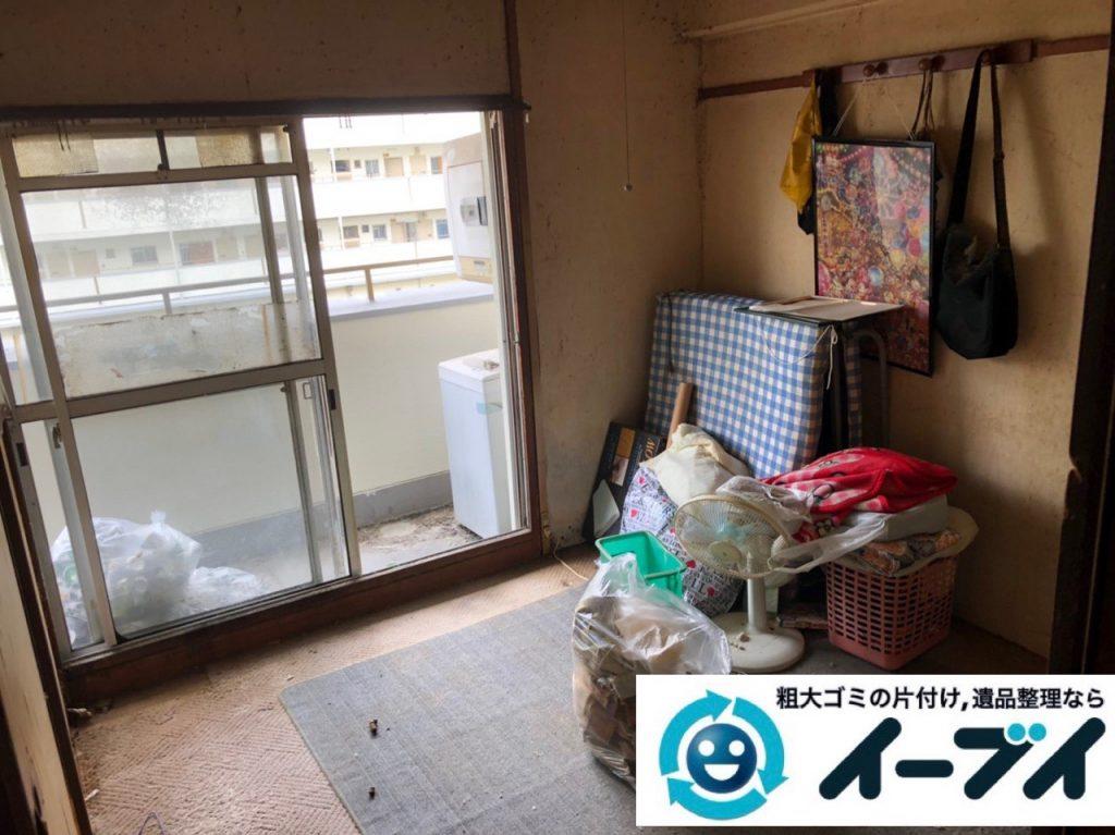 2019年7月2日大阪府高槻市で引越しに伴い食器棚やベッドの不用品回収。写真2