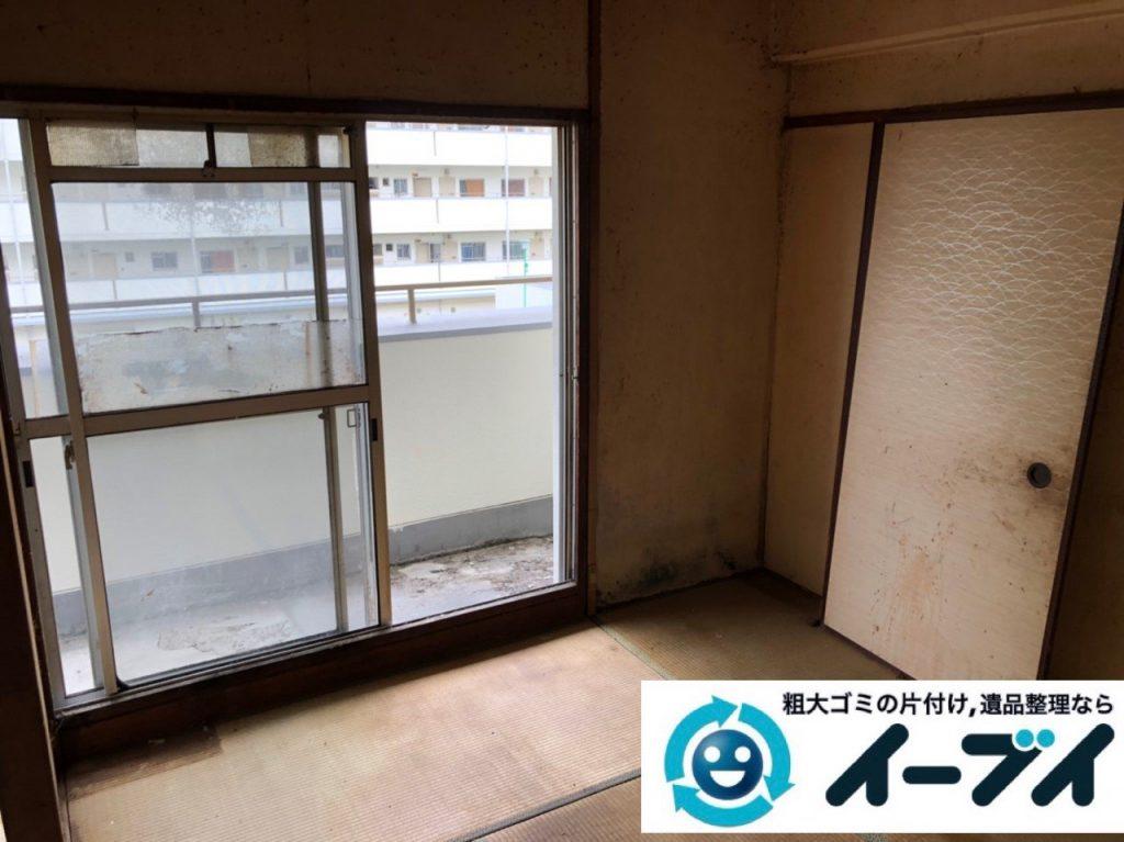 2019年7月2日大阪府高槻市で引越しに伴い食器棚やベッドの不用品回収。写真1