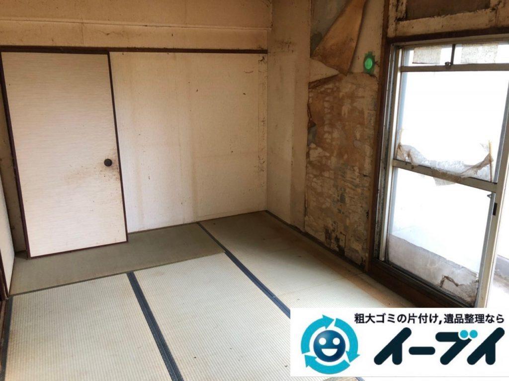 2019年7月5日大阪府大阪市西区で退去に伴いお家の家財道具を一式処分しました。写真1