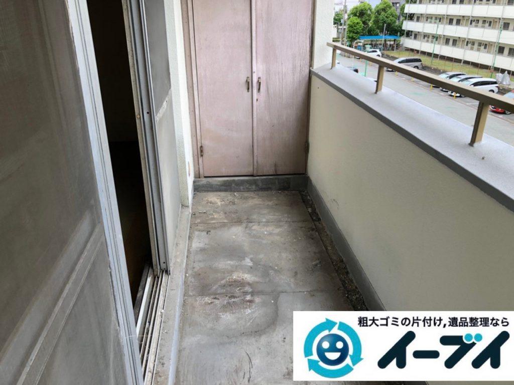 2019年7月4日大阪府枚方市でお家の家財道具を一式処分させていただきました。写真1