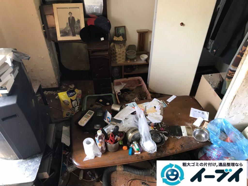 2019年7月25日大阪府堺市西区でゴミやホコリが溜まった汚部屋の不用品回収。写真3