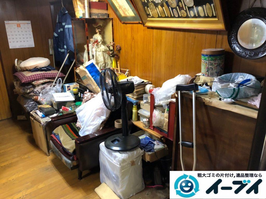 2019年8月12日大阪府大阪市大正区でテーブルやイスの家具処分、扇風機の家電処分などをさせていただきました。写真1