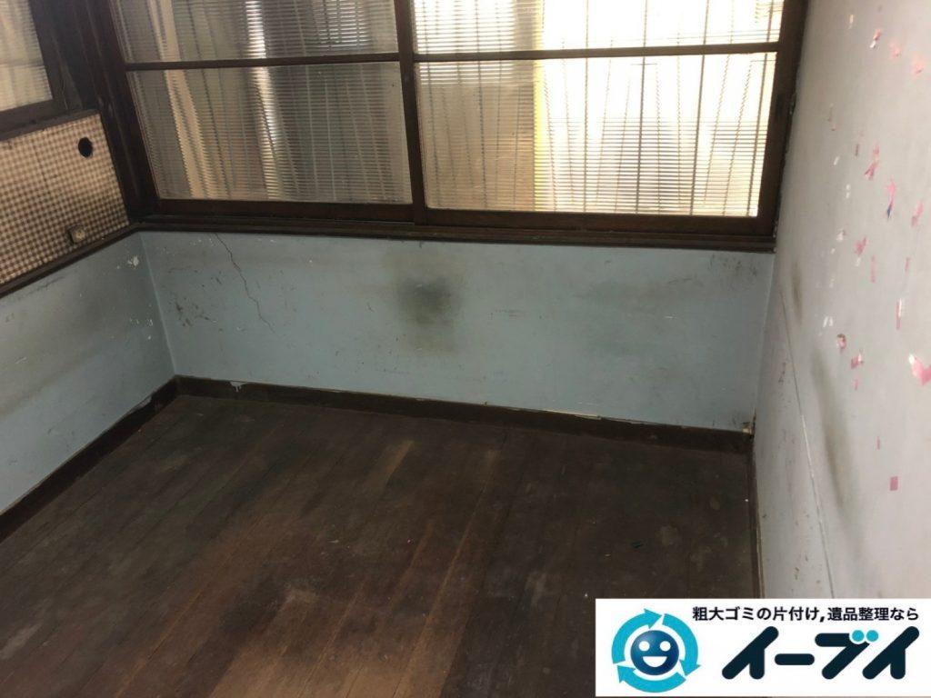 2019年8月8日大阪府城東区で食器棚の大型家具や冷蔵庫の大型家電の不用品回収。写真4