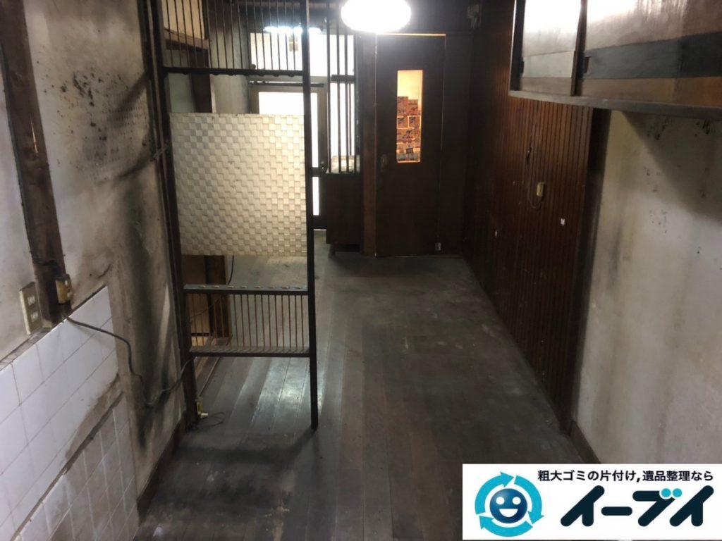 2019年8月8日大阪府城東区で食器棚の大型家具や冷蔵庫の大型家電の不用品回収。写真6