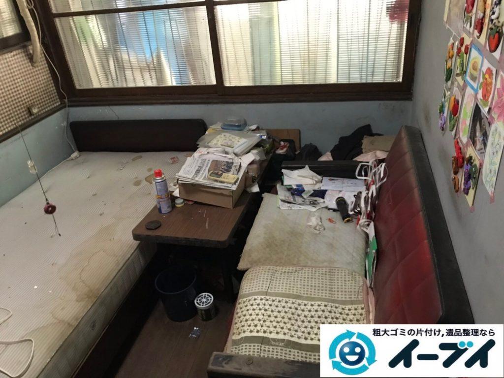 2019年8月8日大阪府城東区で食器棚の大型家具や冷蔵庫の大型家電の不用品回収。写真3