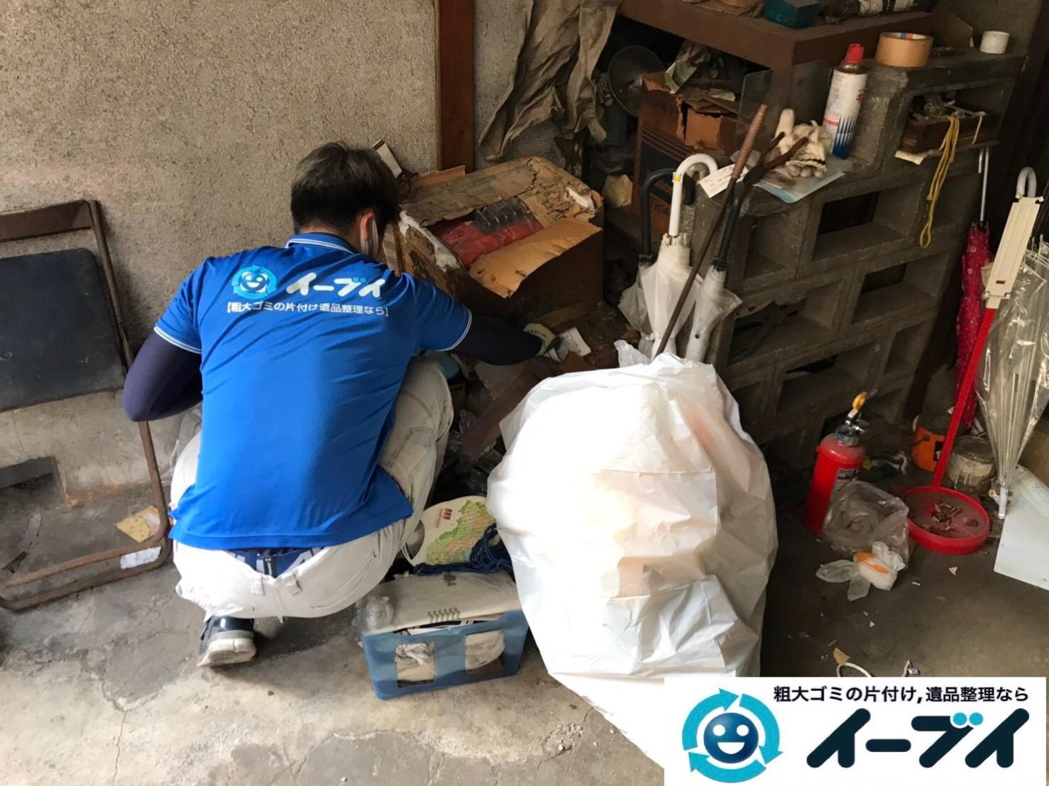 2019年7月24日大阪府四条畷市でお庭やガレージの不用品回収。写真2