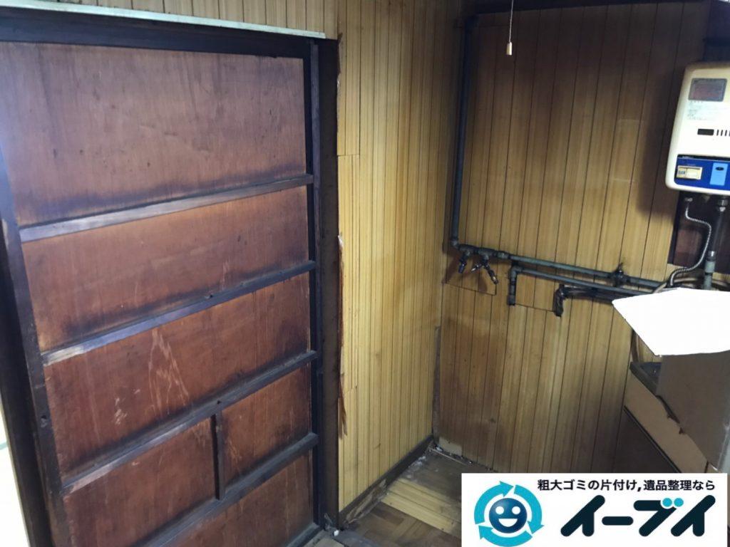 2019年7月17日大阪府堺市南区で食器棚の大型家具、冷蔵庫の大型家電の不用品回収。写真2