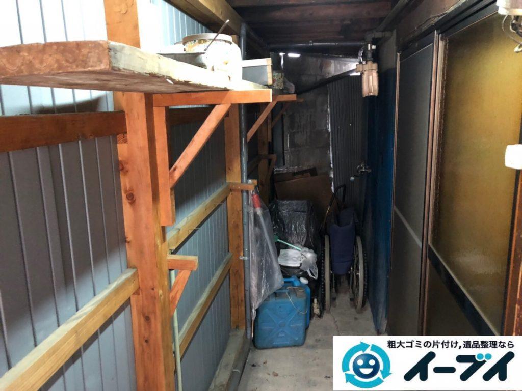 2019年8月12日大阪府大阪市大正区でテーブルやイスの家具処分、扇風機の家電処分などをさせていただきました。写真3