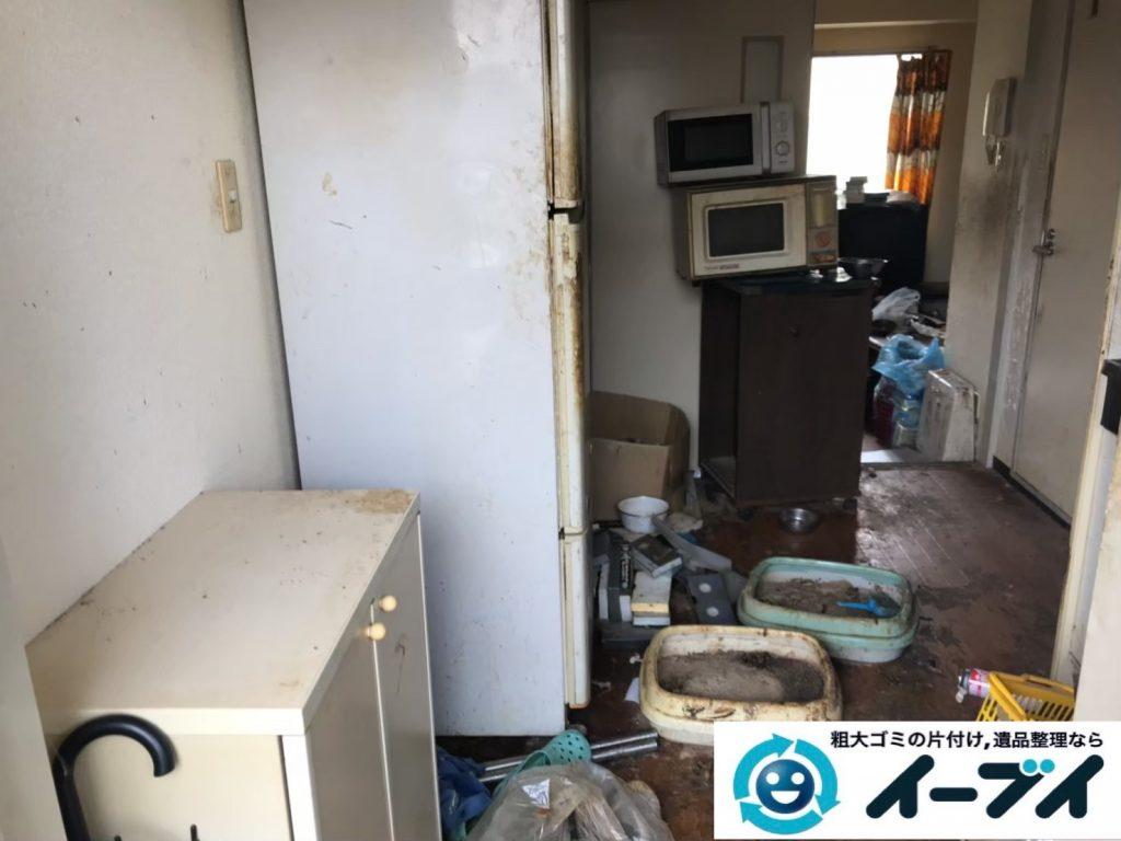 2019年7月29日大阪府大阪市住吉区で台所周りのお部屋の不用品回収。写真1