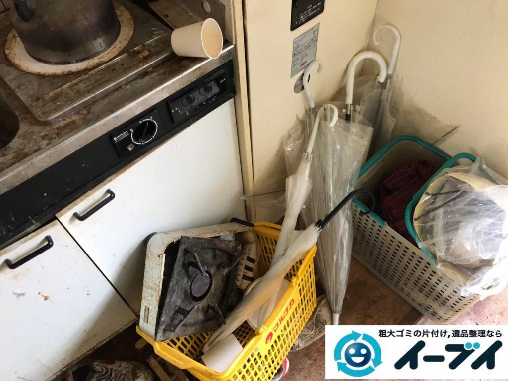 2019年7月29日大阪府大阪市住吉区で台所周りのお部屋の不用品回収。写真3