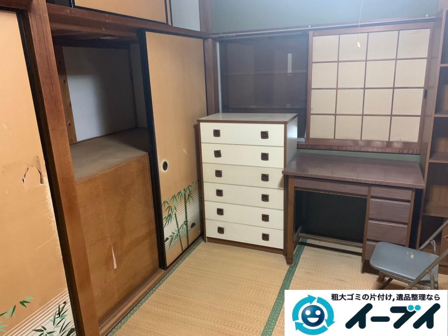 2019年8月8日大阪府大阪市北区で洋服ダンスや整理箪笥の大型家具処分。写真3