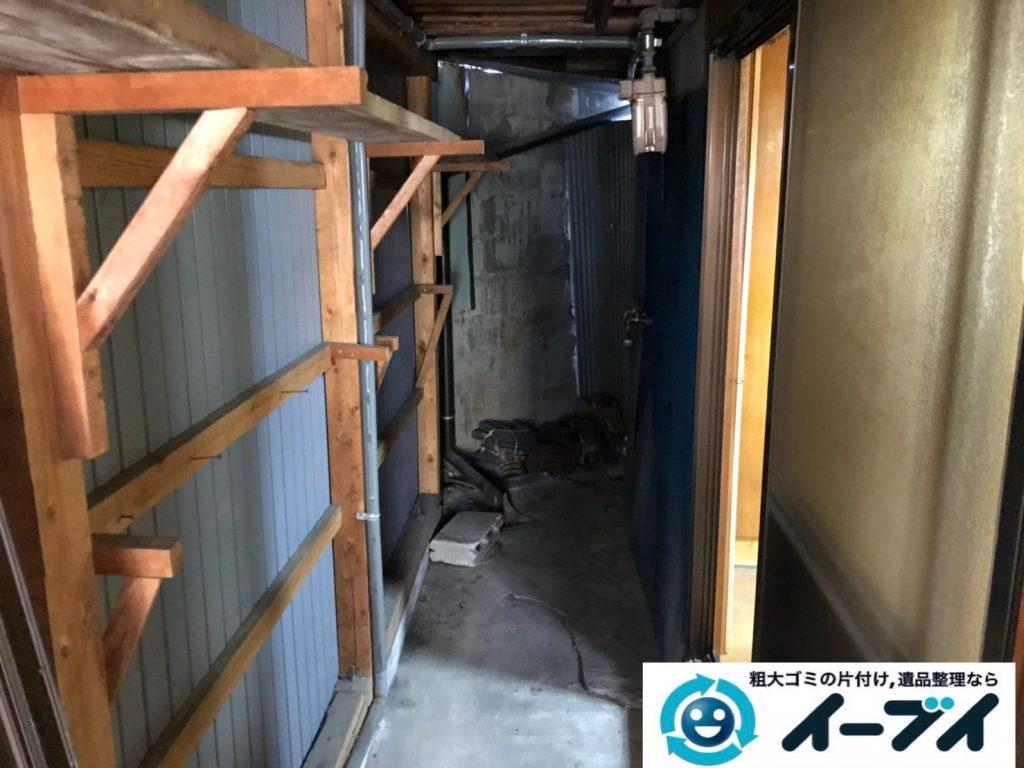 2019年8月12日大阪府大阪市大正区でテーブルやイスの家具処分、扇風機の家電処分などをさせていただきました。写真4