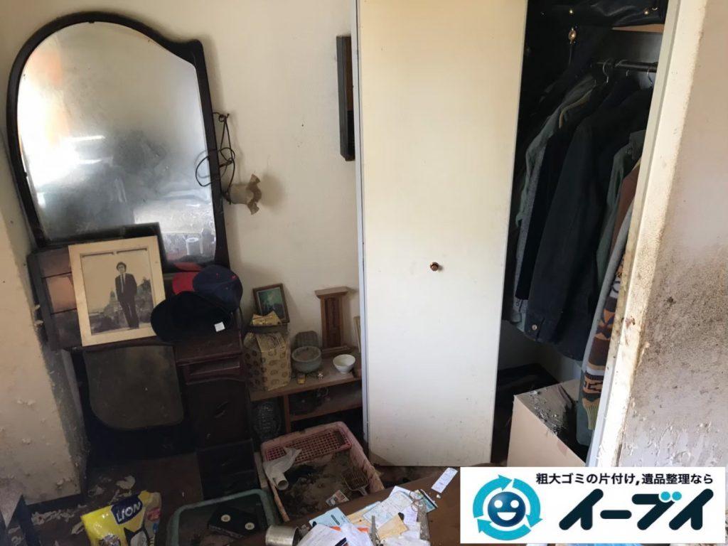 2019年7月25日大阪府堺市西区でゴミやホコリが溜まった汚部屋の不用品回収。写真1