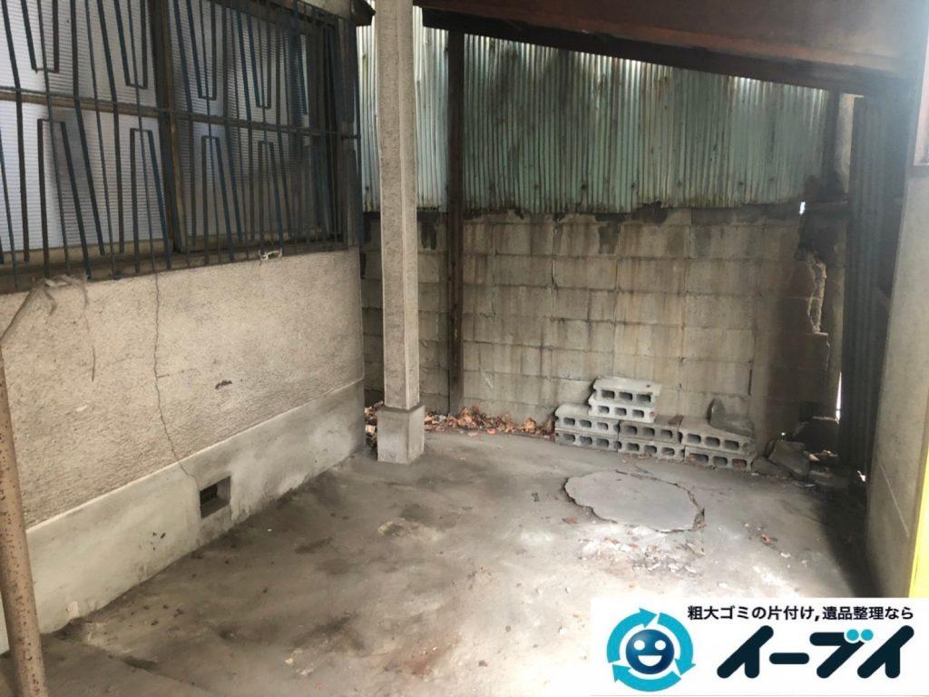 2019年7月22日大阪府堺市堺区でお部屋やガレージの不用品回収作業。写真2