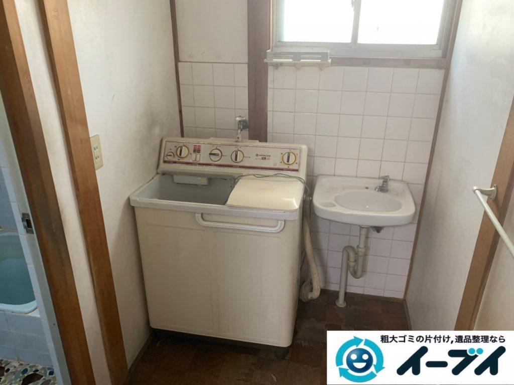 2019年7月31日大阪府大阪市北区で洗濯機の大型家電、テーブルの大型家具の不用品回収。写真5日