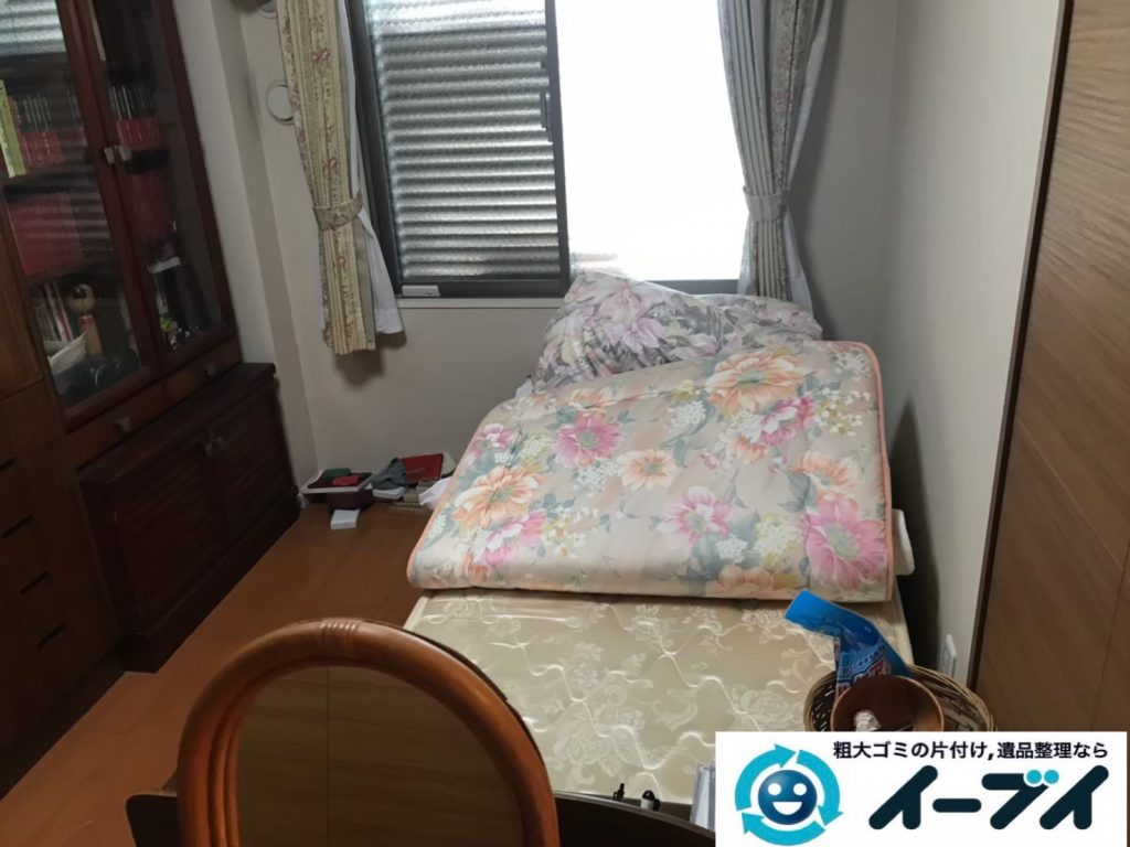 2019年7月11日大阪府交野市でベッドの大型家具、クローゼットの片付けをさせていただきました。写真3