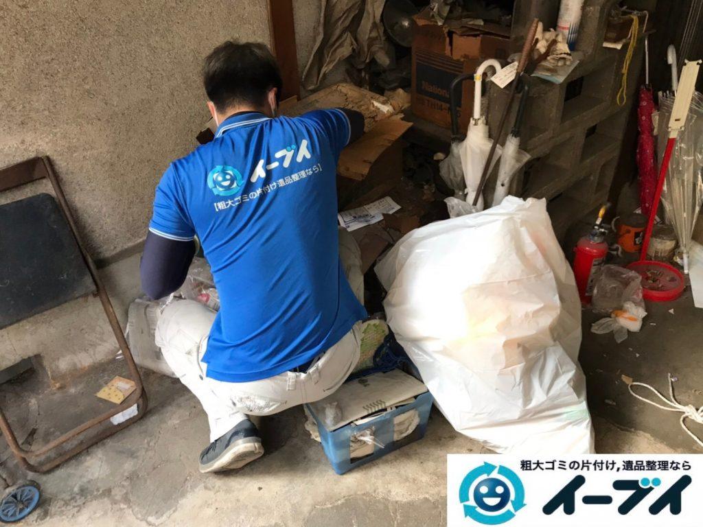 2019年7月24日大阪府四条畷市でお庭やガレージの不用品回収。写真1