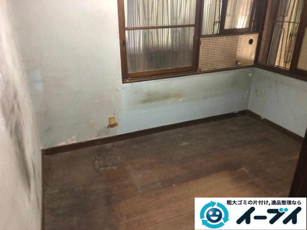 2019年8月8日大阪府城東区で食器棚の大型家具や冷蔵庫の大型家電の不用品回収。写真2